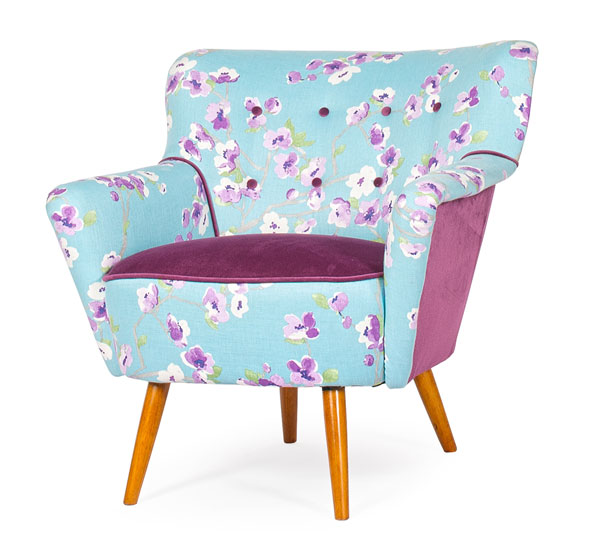 Cocktail Chair floral velvet