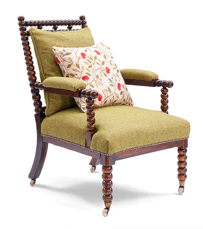 Walnut Bobbin Lady's Chair